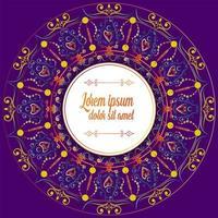 Purpurfärgad mandala dekoration vektor