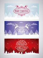 Satz der Karte der frohen Weihnachten vektor