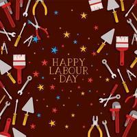 Satz von Werkzeugen Bau Labor Day Frame