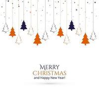 Hängender Weihnachtsbaum-Kartenhintergrund