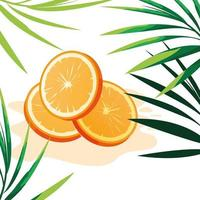 Skiva av orange designvektorillustration