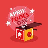 april dårar dag överraskning låda vektor