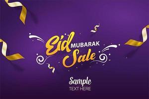 Eid mubarak Sale social media cover vector mall design