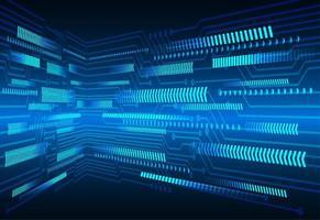 Blauer Pfeil Cyberstromkreistechnologiehintergrund