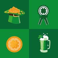 Stellen Sie Ikonen von St Patrick Tag ein