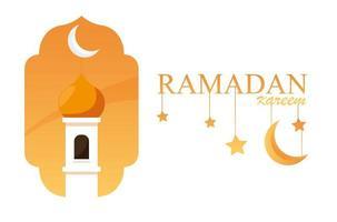 ramadan kareem moskébyggnad i ram vektor