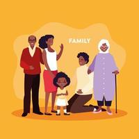 söt familj i affisch vektor