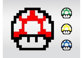 Super Mario Pilze vektor