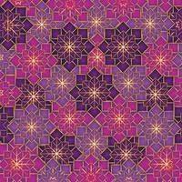 geometrische Blumenmuster Dekoration Hintergrund vektor