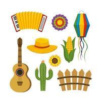 ställa in festa junina dekoration till fest fest