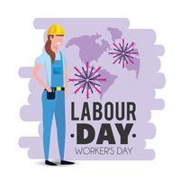 Frauenmechaniker mit Uniform zum Werktag