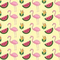 Tropischer Flamingowassermelonen-Blumenhintergrund