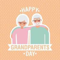 Großeltern-Tageskarte vektor