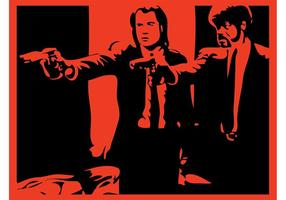 Pulp Fiction-Szene vektor