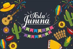 Party Banner zum Fest der Junina