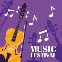 fiol klassisk instrumentaffisch