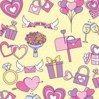 Valentinstag Muster vektor