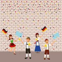 oktoberfest deutsches fest vektor