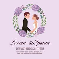 Paar Hochzeitskarte