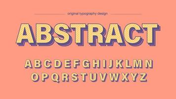 Lekfull färgrik abstrakt prickar konstnärliga teckensnitt vektor