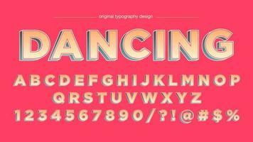 Färgglad fet stil 3D Cartoon Typography Design vektor