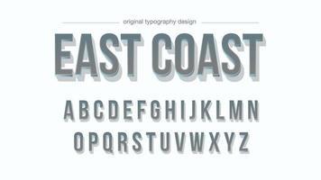 Chrome Bold 3D-Typografie mit Schatten vektor