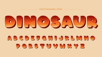 Orange Steigungs-Cartoon-Comic-Schriftart vektor