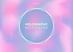 Holografisk bakgrund i pastellfärg.