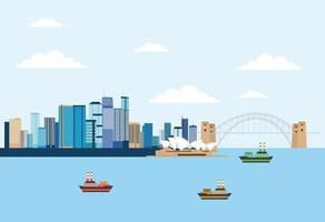 australien platser relaterar vektor