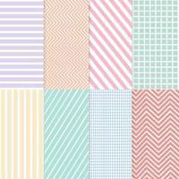 Pastell gemischter nahtloser Mustervektorsatz
