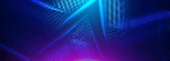 Abstrakte Neonsichtbarmachung der Technologie 3d und der Wissenschaft vektor