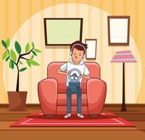 Tonåring med rattvideospeletecknad film