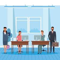 kollegor män och kvinnor på kontoret