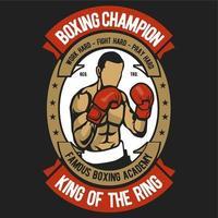 Muskulös ung man som bär boxningshandskar