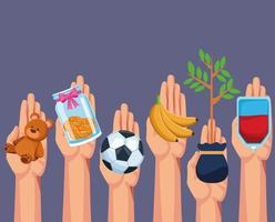 Välgörenhet och donation vektor