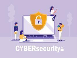 Zielseite für Cybersicherheit vektor