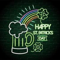 Glückliches St Patrick Tagesleuchtreklame