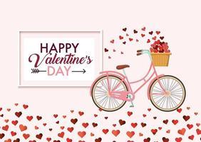 Happy Valentinstag Nachricht vektor