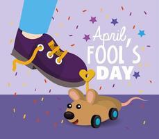 April Fools Day meddelande vektor