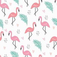 Flamingo-Weiß-Muster vektor