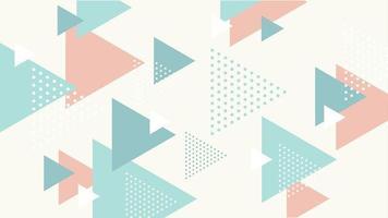 abstrakte dynamische Dreiecke Memphis Hintergrund vektor
