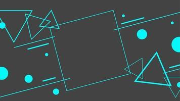 abstrakte flache geometrische in schwarzem Hintergrund