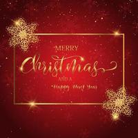 Weihnachtshintergrund mit dekorativem Text vektor