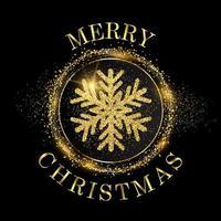 Funkelnschneeflocke Weihnachtshintergrund vektor
