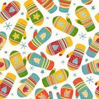 Färgglada vantar mönster