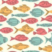 Lustiger Gekritzel-Fisch