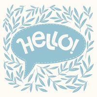 Hallo Hand Schriftzug vektor