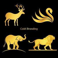 Gold Tier Logo gesetzt vektor