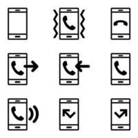 Ikoner för mobiltelefonsamtal