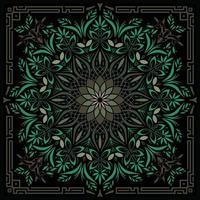 Psychedelische Mandala Geometric Illustration